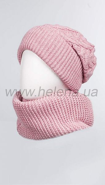 Фото 103379-31 товару Комплект (шапка+шарф) 1023 рож