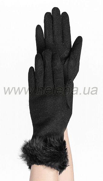 Фото percatki-grace-s-mehom-cern-1 товару Рукавички Grace з хутром чорн.