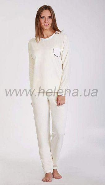 Фото 1032721 товару Піжама жіноча велюрова з кишенею